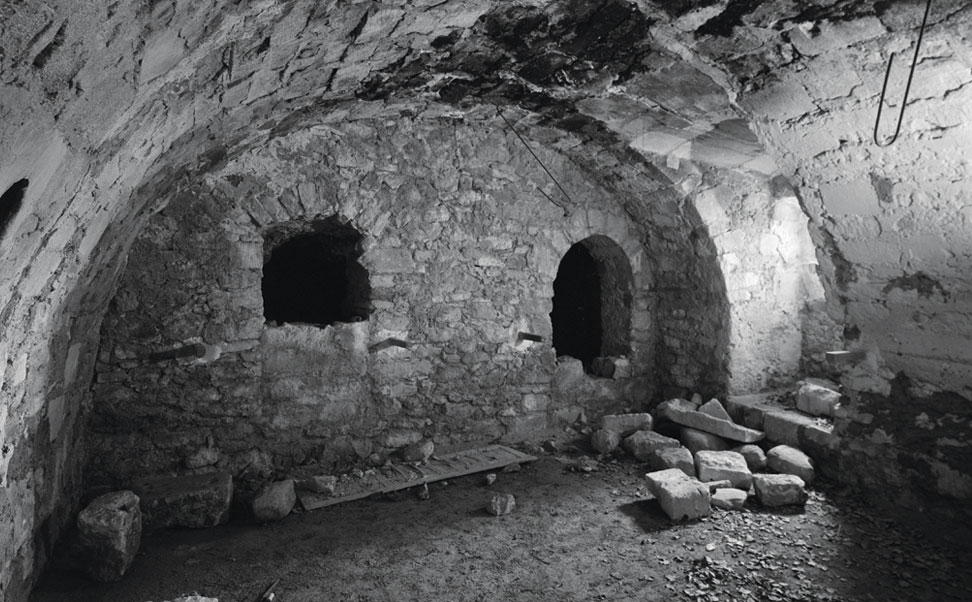 The community oven before revitalization