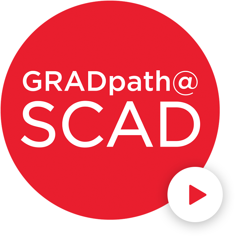 Grad path at SCAD logo