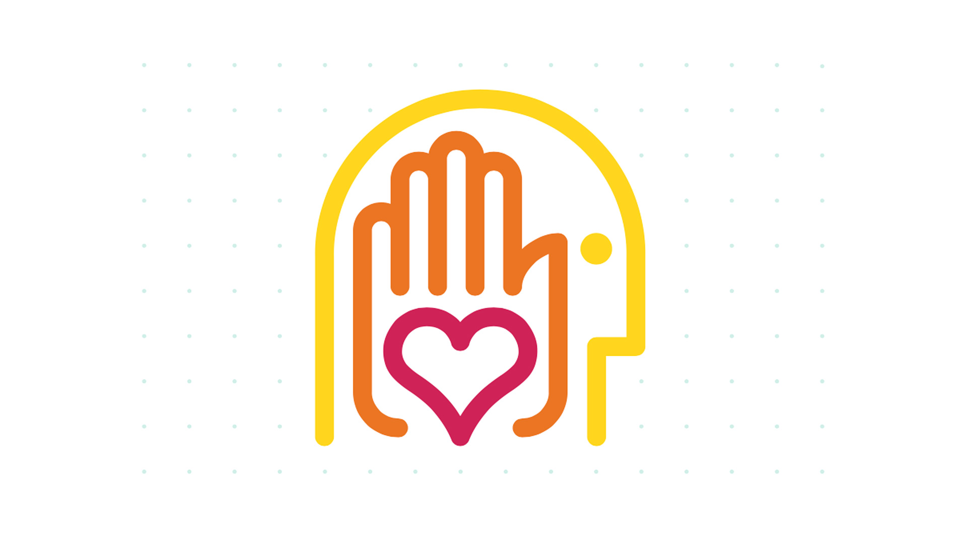 SCAD head, hand, heart logo