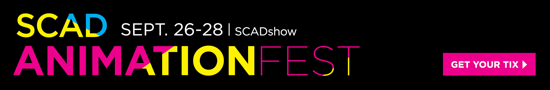 SCAD AnimationFest banner