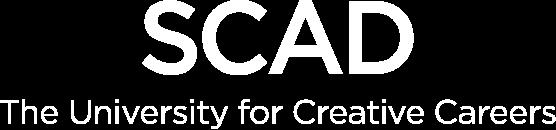 SCAD logo white
