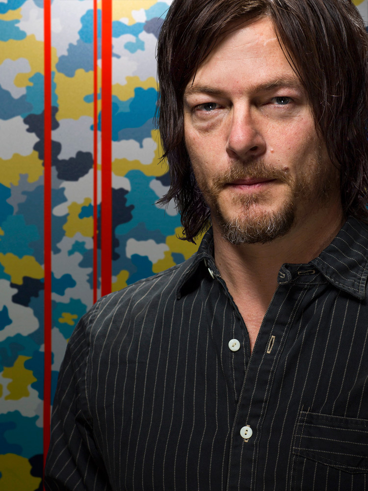 Portrait of Norman Reedus by photographer Adam Kuehl.