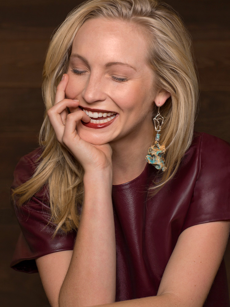 Portait of Candice Accola by photographer Adam Kuehl.