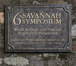 SCAD architectural history: 6th Savannah Symposium: World Heritage and National Registers in Perspective, 2009