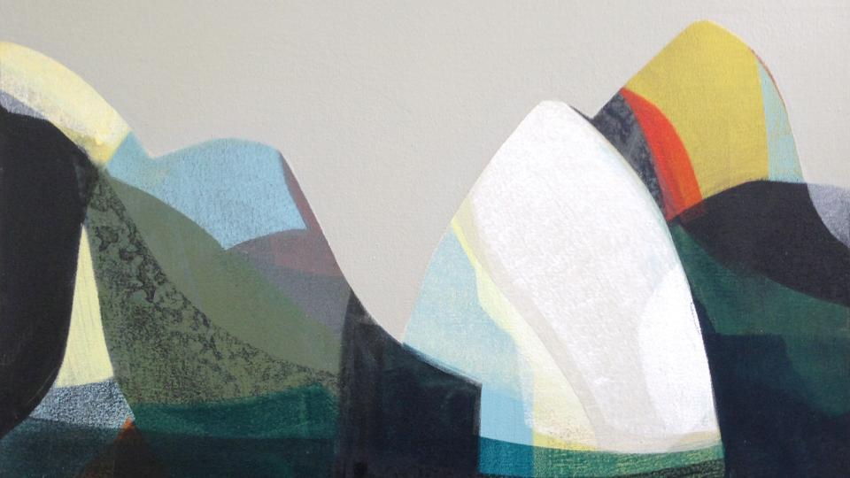 "katherine sandoz, ""(tahoe hybrids) no. 3,"" water-based media on canvas, 20"" x 24"", 2013"