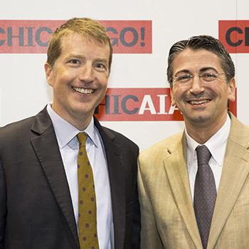SCAD School of Building Arts Dean Christian Sottile with Martin Smith, SCAD Executive Director of Design and New Construction