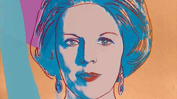 "Andy Warhol, ""Reigning Queens (Royal Edition): Queen Beatrix of the Netherlands,"" 1985"
