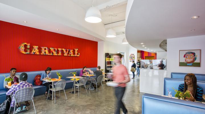 Carnival dining facility, Montgomery Hall, SCAD Savannah