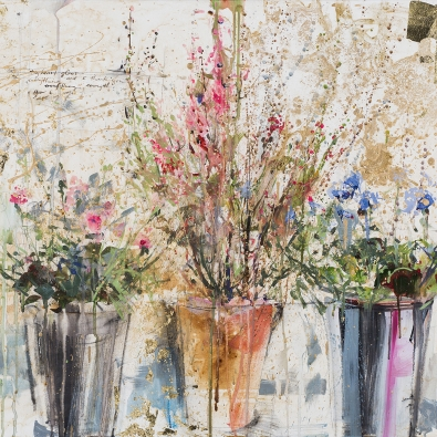 Tiffani Taylor, painting, At the Flower Market: In Golden Sunlight