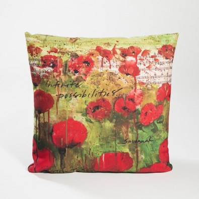 Tiffani Taylor, Lifestyle Collection Pillow: Infinite Possibilities (Red Poppies)