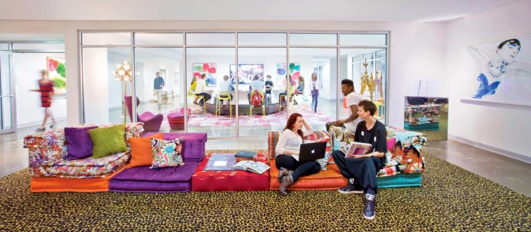 SCAD Atlanta students in fashion lounge