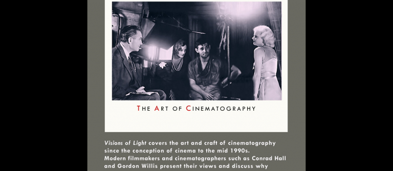 """Visions of Light: The Art of Cinematography"" poster"