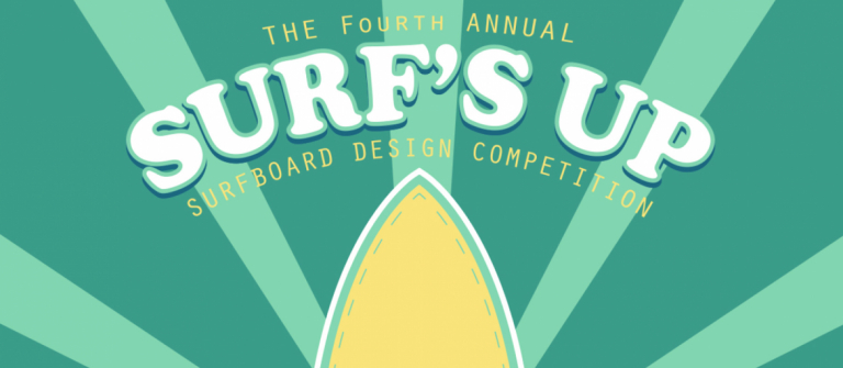 Poster for Surf's Up design competition