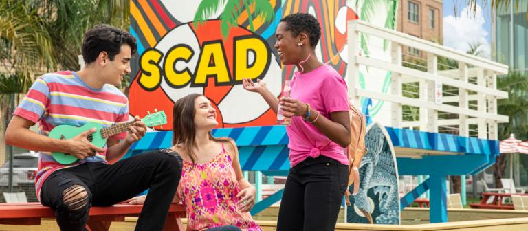 Students enjoy SCAD Beach in Savannah