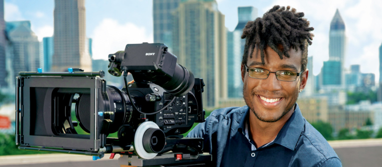 SCAD television producing student on rooftop of SCAD Atlanta