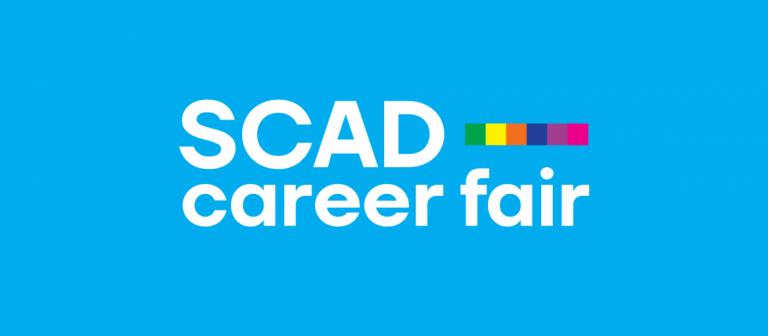 Career Fair light blue branding
