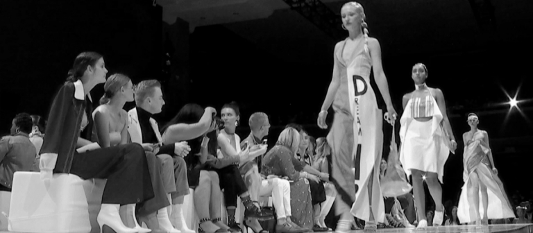 Video still from SCAD fashion runway show