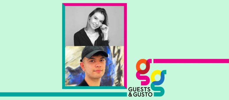 Guest and Gusto speakers Flavia Gutierrez Valez and Gabriel Campoy