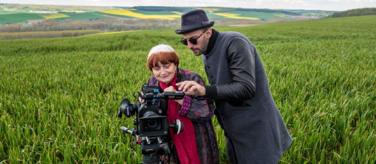 """Film still from """"Faces Places"""" with Agnes Varda and JR"""