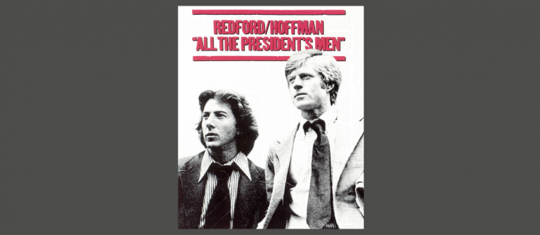 Movie poster for All the President's Men screening at SCADshow