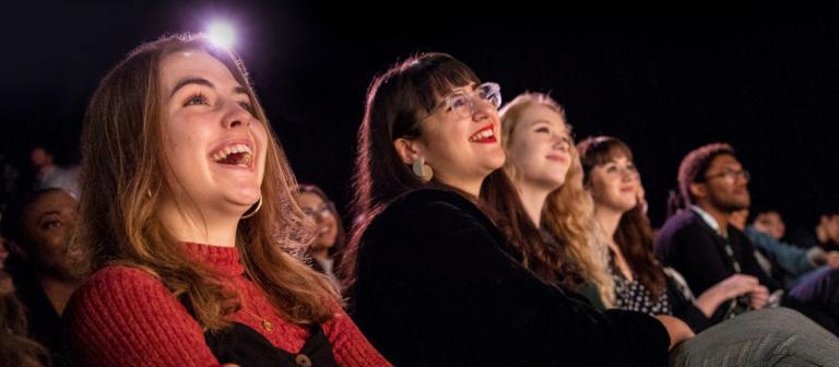 Audience members laughing at aTVfest screening