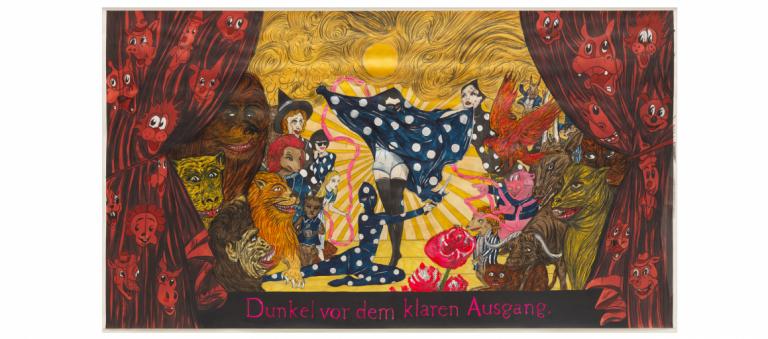 Signature image for Marcel Dzama exhibition