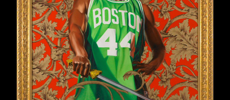 "Kehinde Wiley, ""Alexander the Great,"" oil and enamel on canvas, 6' x 5', 2007."
