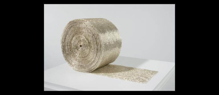 "Liza Lou, ""Roll,"" cotton, glass beads, 2007-08."