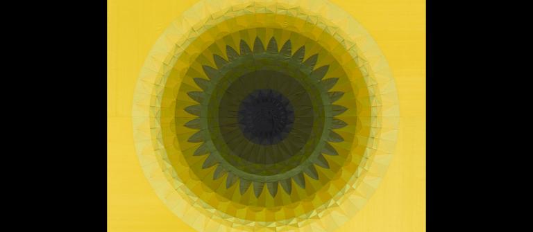 "Angelo Filomeno, ""Dream of Flies (yellow, black),"" 2010."