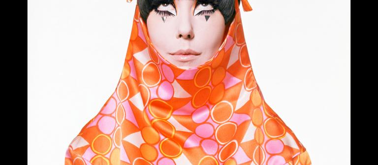 Peggy Moffitt modeling Rudi Gernreich designs, 1966. Photograph by William Claxton.