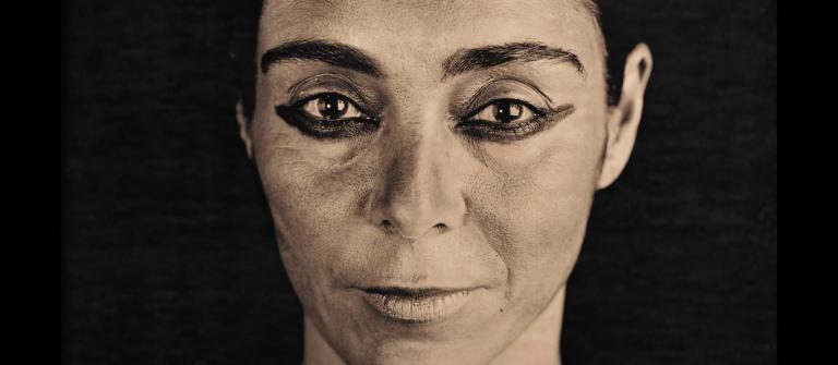 Shirin Neshat photograph by Lyle Ashton Harris.