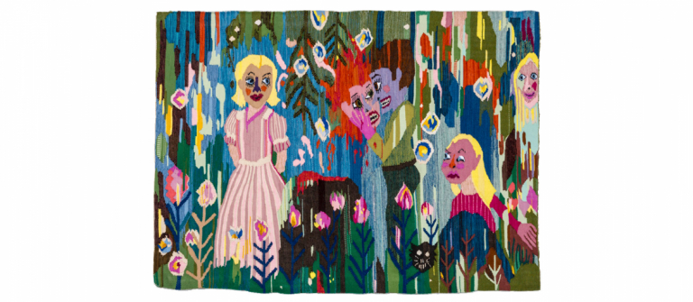 Christina Forrer textile for SCAD Museum of Art exhibition