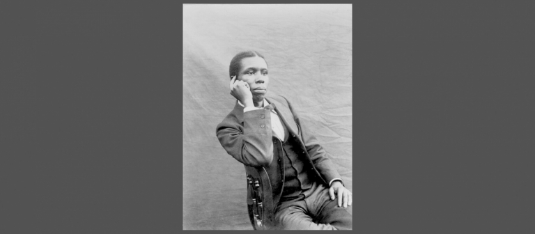 Portrait of African American writer Paul Laurence Dunbar
