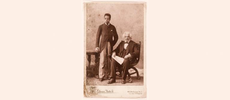 Photograph of Joseph Henry Douglass and Frederick Douglass