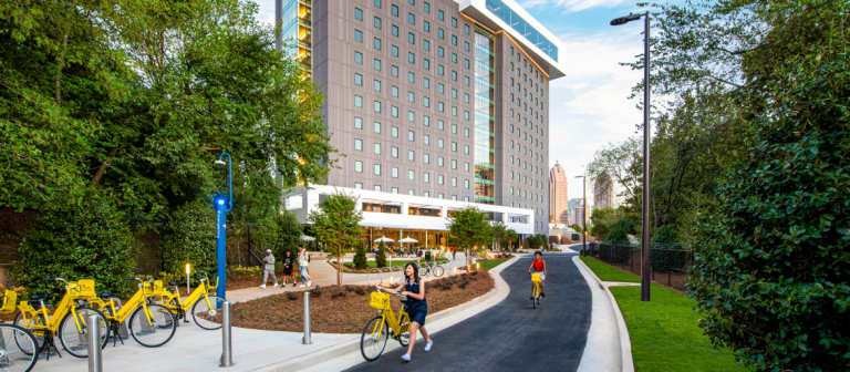 Exterior of residence hall FORTY at SCAD Atlanta