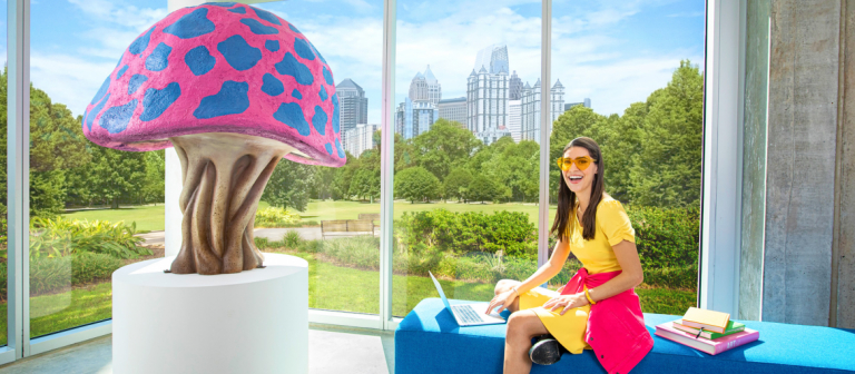 Student works in SCAD Atlanta's Forty building