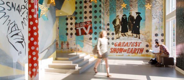 Crites Hall lobby, SCAD Savannah