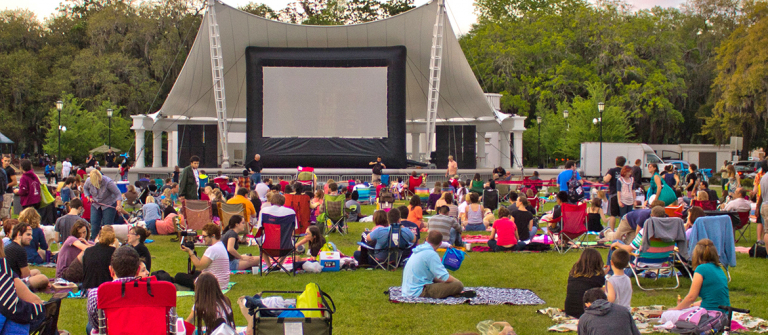 Films in Forsyth Park, Savannah, Georgia