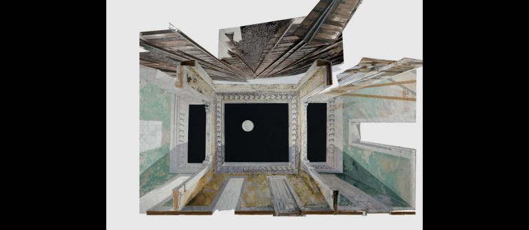 "Adam Cvijanovic, ""Reconstruction,"" site-specific painting installation, 2013."