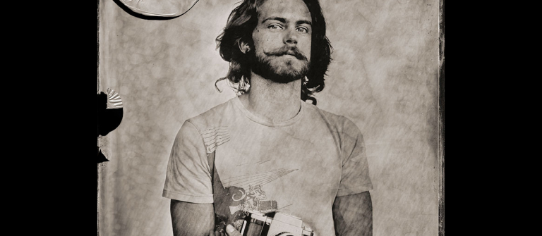 "Alexander Hadjidakis, ""The Photographers, Oktawian,"" wet plate collodion black glass ambrotype, 2013."