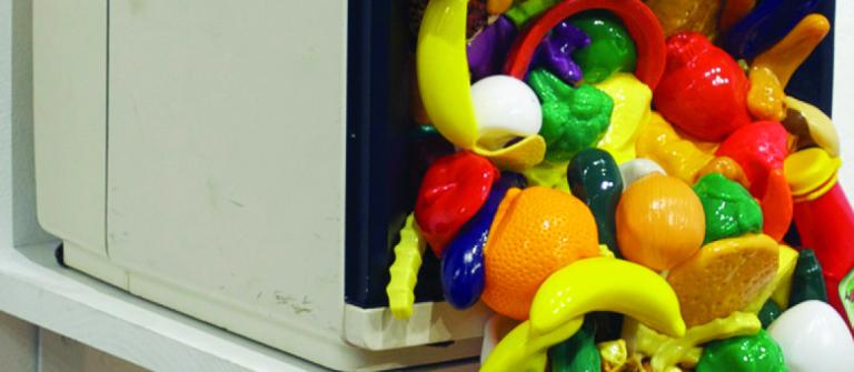 "Emilio Maldonado, ""Food Network,"" mixed media, 2013."