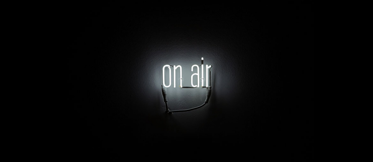 "Laurent Grasso, ""On Air,"" 2012, neon sign, transformer, 2012."