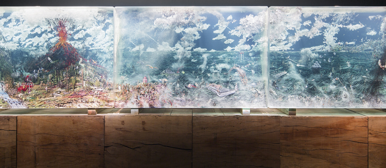 "Dustin Yellin, ""The Triptych,"" Feb. 7-June 8, SCAD Museum of Art, Experimental Gallery."