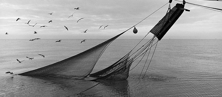 """Jack Leigh, """"Nets and Doors,"""" silver gelatin print, 1986."""