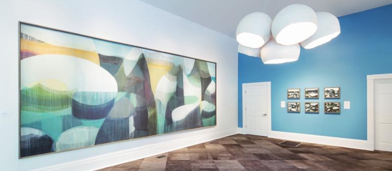 """katherine sandoz, """"tahoe hybrids"""" at SCAD's Pinnacle Gallery, 2014."""