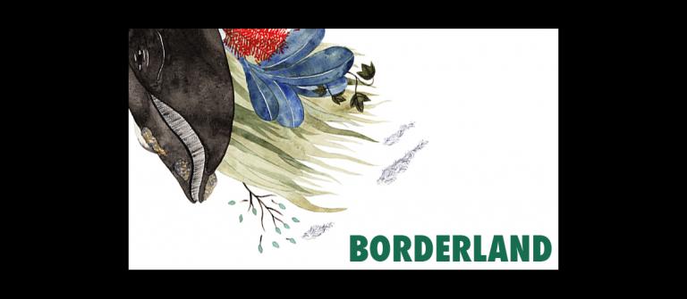 "Rumi Hara, M.F.A. illustration student, Osaka Japan, ""Borderland 7,"" watercolor on paper, 7.3"" x 10"", 2014."