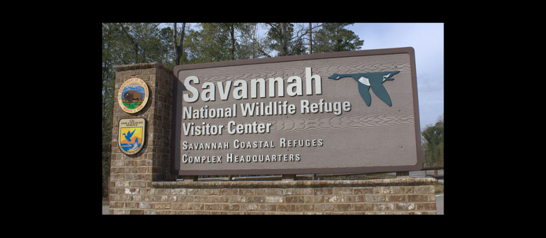 Savannah National Wildlife Refuges Complex Headquarters sign