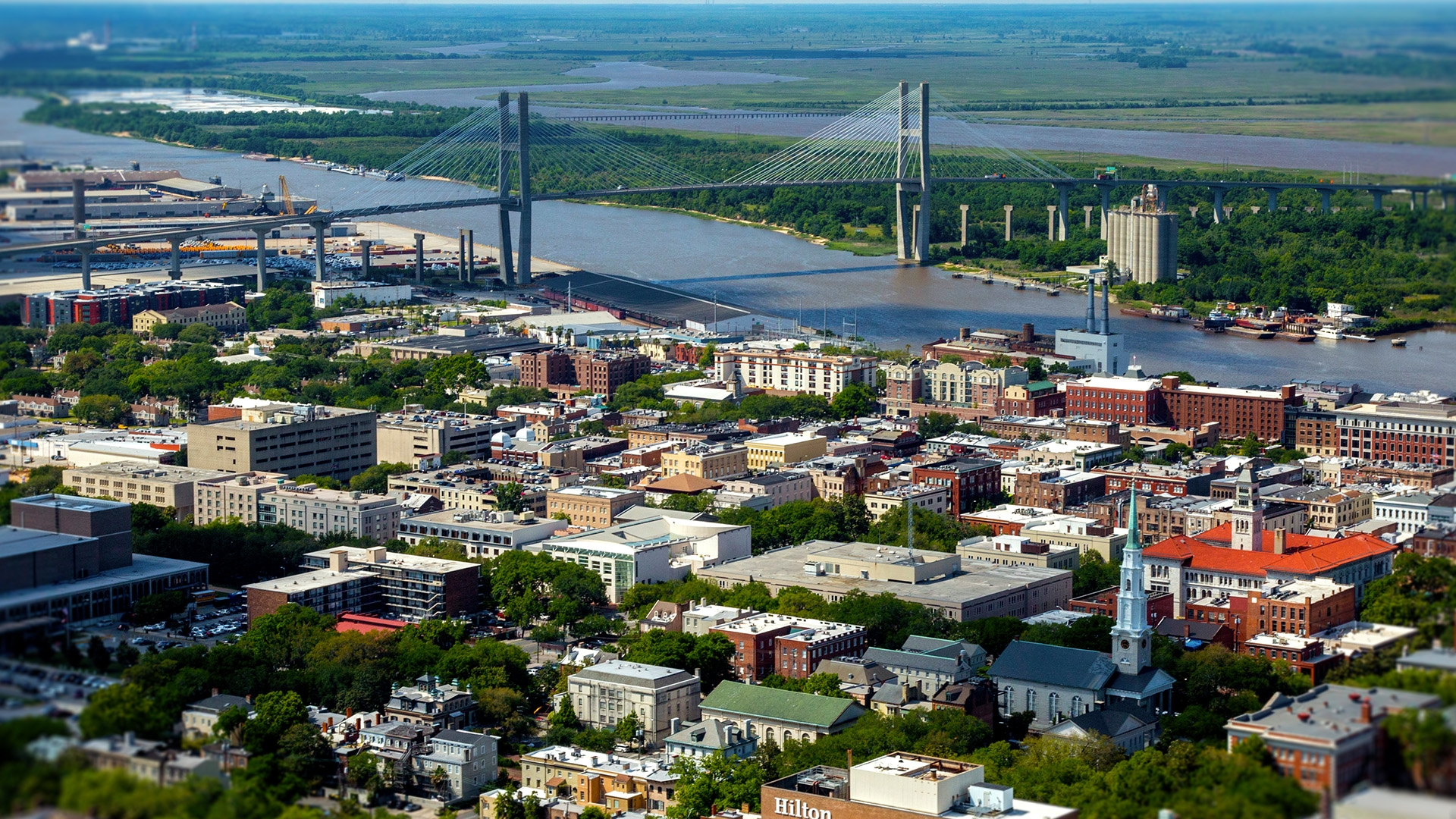 Talmadge bridge in Savannah