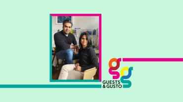 Guests and Gusto speakers Urvi Sharma and Manan Narang