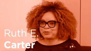 Academy Award winner Ruth E. Carter portrait photo with her name displayed.